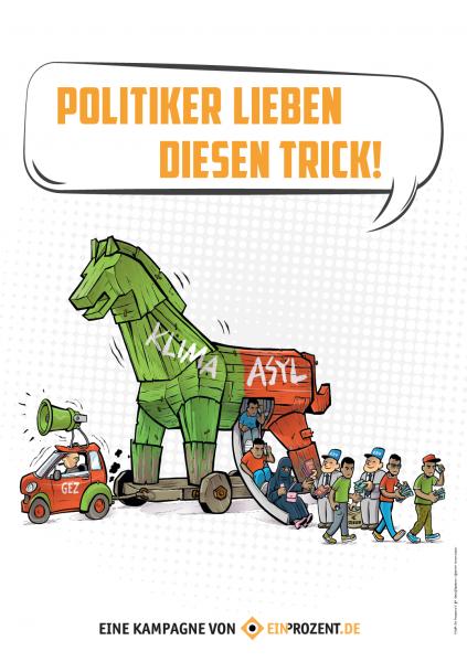 Plakat   Trojanisches Pferd