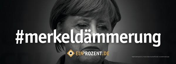 Aufkleber | Merkeldämmerung | 100 Stück