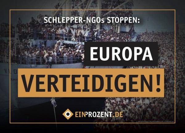 Aufkleber | Europa verteidigen | 100 Stück