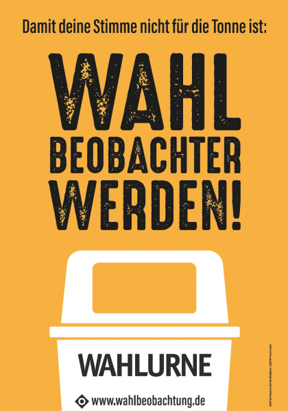Plakat   Wahlbeobachtung