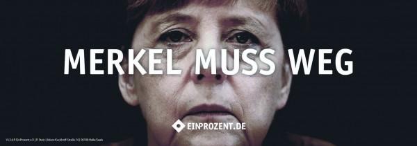 Aufkleber | Merkel muss weg | 100 Stück