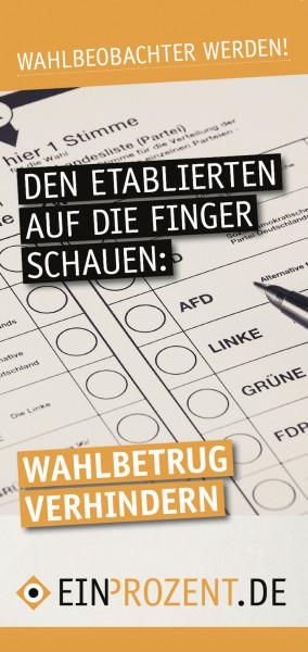 Flugblatt | Wahlbeobachtung | 100 Stück